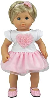 Amazon.com: 15 Inch Baby Doll Pink Ballet 3 Pc. Doll Clothes ...
