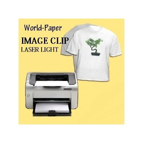 "Photo ImageClip Laser Heat Transfer Paper 11""x 17"" Image Clip White, Light Fab 25 Sheets"