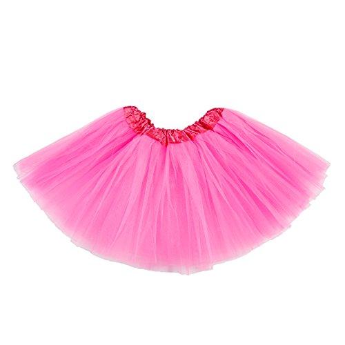 belababy Girl Skirts 3 Layers Organza Baby Tutu,Rose Pink,2-8
