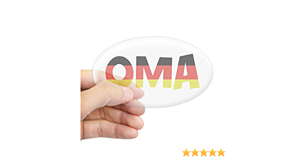 200091184 Euro Oval Car Decal CafePress Oma Oval Sticker Oval Bumper Sticker