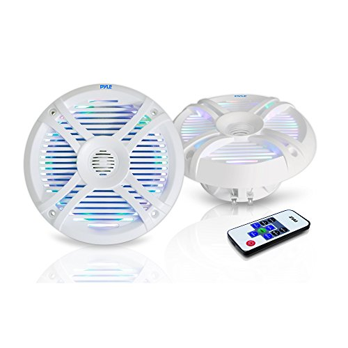 Pyle Waterproof Marine Speakers Multi Color