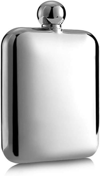 JIA Xing Acero Inoxidable Importado Frasco de Cadera pequeño Engrosado Acero Inoxidable con Estuche de Cuero Botella de Vino portátil al Aire Libre for Enviar Embudo Petaca Acero inoxi