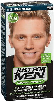 Price comparison product image Just For Men Original Formula Haircolor Light Brown H-25 - each, Pack of 6