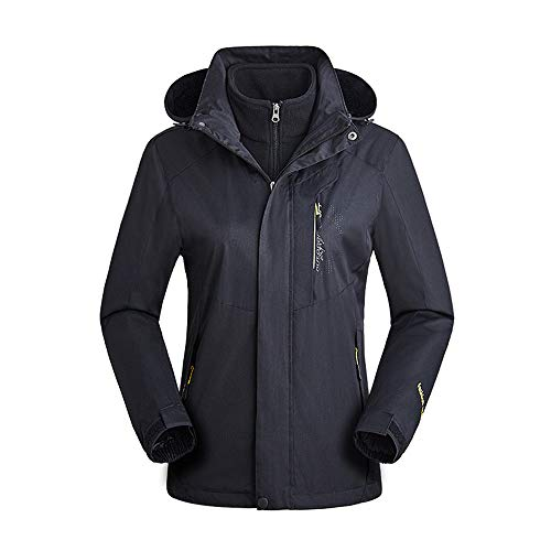 (Woman Camping Hiking Coat Bomber Cycling Running Waterproof Windproof Jacket Outdoor Windbreaker Black)