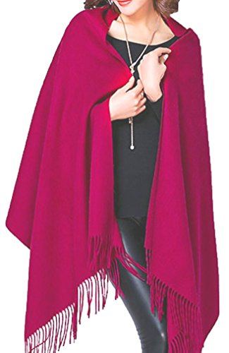 Cashmere Stole, Large Scarf, Shawl, 100% Cashmere, Gorgeous and Natural, Model K0101(Bordeaux) by MARUYAMA