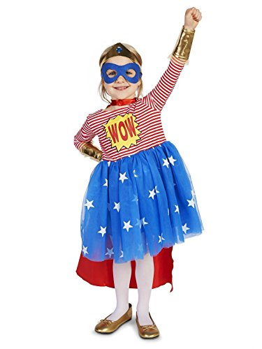 Pop Art Comic Superhero Girl Toddler Costume 4T Red/White