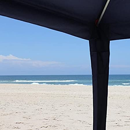 Safecastle New Cool Cabanas 3 Size M UPF 50 Cotton Poly Canvas Providing 50 Medium UV Protection 8 Pockets Solid Navy