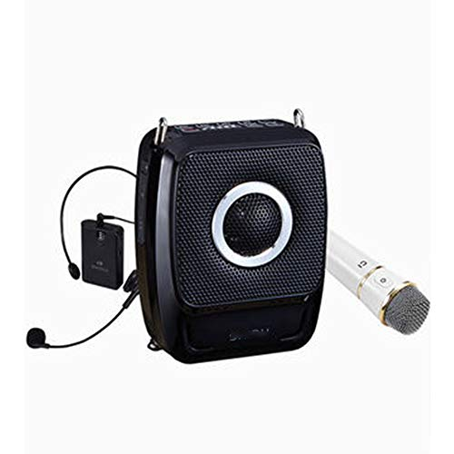 GYJ Portable PA System, Voice Amplifier with Wireless Microphone Headset, Rechargeable and Speaker Waistband Support MP3 Format Audio