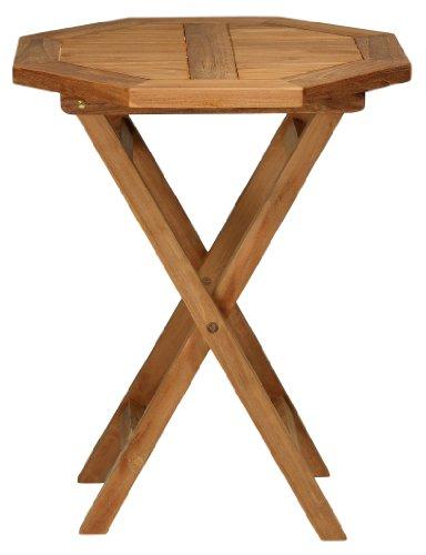 Bare Decor Romanee Octagon Outdoor Teak Dining Table (Weather Kingsley)