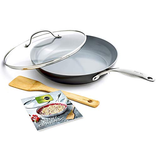 GreenPan CC001875-001 Valencia Pro Cookware Set 4pc, Grey