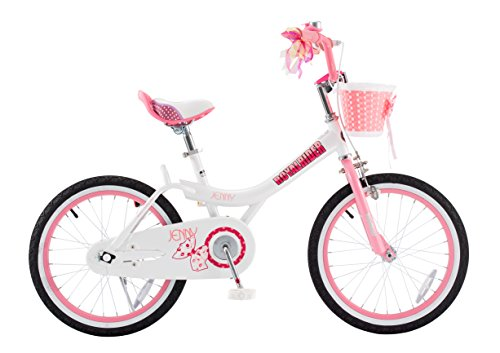 Royalbaby Jenny Girl's Bike, 20 inch wheels, White/Pink