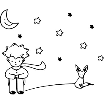 Amazon Com Leoy88 Stars Moon The Little Prince Kids Wall Sticker