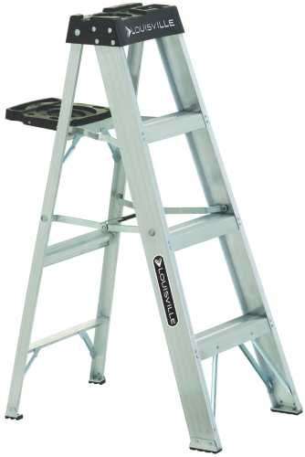 4' Aluminum 300 Lb. Twin Stepladder, Type Ia (Werner 16 Ft Aluminum Multi Position Ladder)
