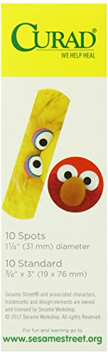 Curad Sesame Street, Assorted Size Bandages 20 count  (Pack of 6)