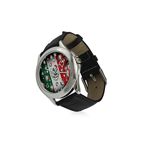Valentine's Day Gift Mexico Eagle Flag US State Women's Classic Leather Strap Watch