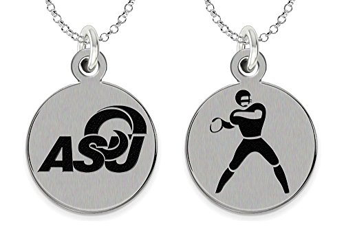 College Jewelry Angelo State Rams Stainless Steel Football Charm