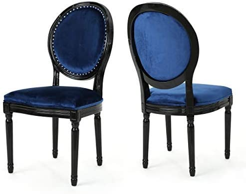 Christopher Knight Home Leroy Traditional Velvet Dining Chairs