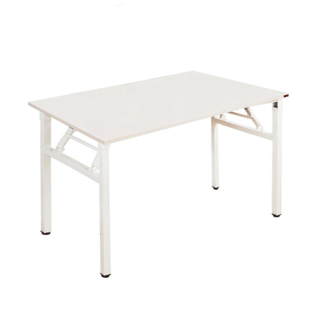Need Bureau d'Ordinateur Informatique pliante 100x60cm Table d'étude / à dîner pliable pour Maison/ Bureau, Blanc AC5DW-100