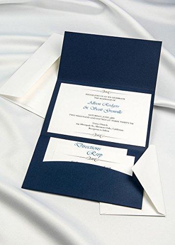 Horizon Pocket Folder Invitation Kit - Navy Blue - Pack of ()