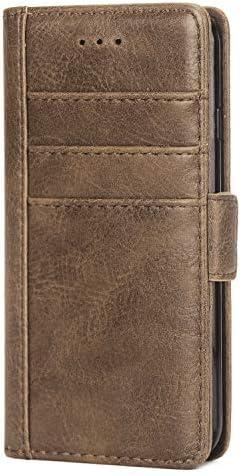 Samsung Galaxy S8 PUレザー ケース, 手帳型 ケース 本革 スマホケース 耐摩擦 ビジネス 財布 カバー収納 手帳型ケース Samsung Galaxy サムスン ギャラクシー S8 レザーケース
