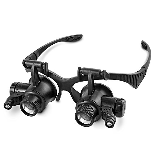 Flexzion Magnifier Adjustable Illuminated Magnifying