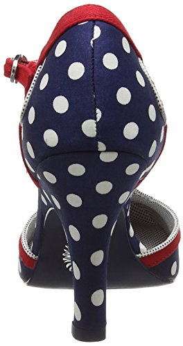 Ruby Shoo Hatty, Women's Closed-Toe Pumps Blue (Navy Spots)