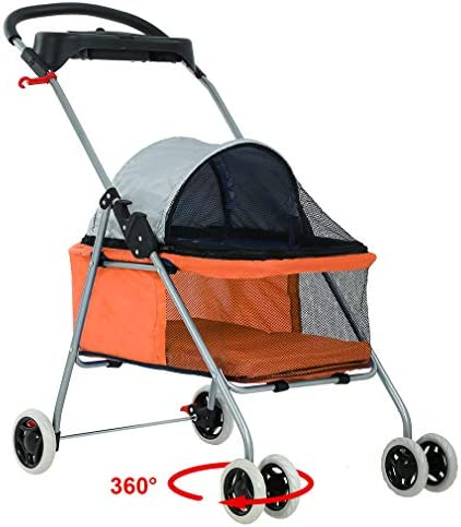 BestPet Orange Posh Stroller Holder