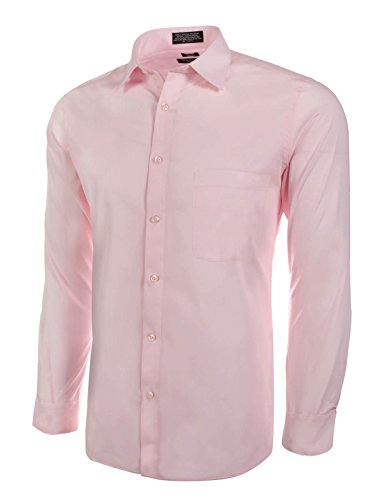 (Marquis Slim Fit Dress Shirt - Pink,X-Large 17-17.5 Neck 36/37)