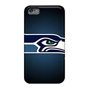 Durable Hard Phone Case For Apple Iphone 6 (fVy280TpVR) Unique Design Trendy Seattle Seahawks Pattern