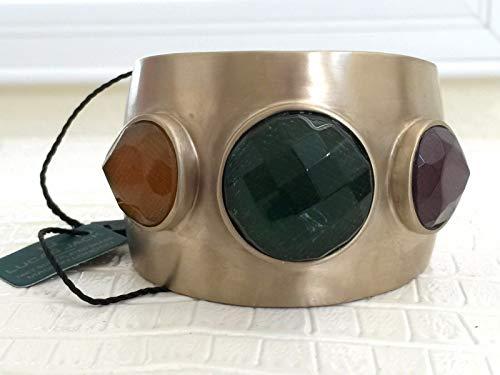 LUCAS JACK Bracelet Bangle Cuff London 14kt Gold Plated on Brass ()