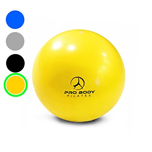 Mini Exercise Ball - 9 Inch Small Bender Ball for Stability, Barre, Pilates, Yoga, Core Training and Physical Therapy (yellow)  yoga ball yellow | Yellow Ball Puncture 41vSzVc k4L