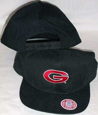 Georgia Bulldogs Black Adjustable Plastic Snap Strap Back Hat / Cap