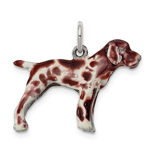 ver Enameled German Shorthaired Pointer Charm (approximately 17 x 23 mm) ()