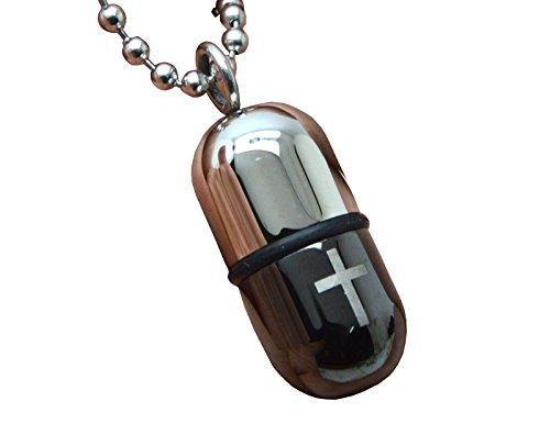 Okones Capsule Necklace Pendant Adjustable