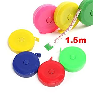 Joinwin® Pack of 10 Random Color!! New Retractable Ruler Tape Measure 60 inch Sewing Cloth Dieting Tailor 1.5M 41vT 2B13lKEL