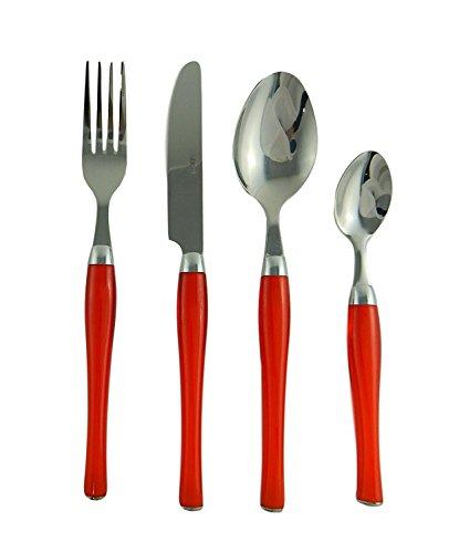 Cuisinart CFE-01-B20R 20-Piece Flatware Set Beille Red