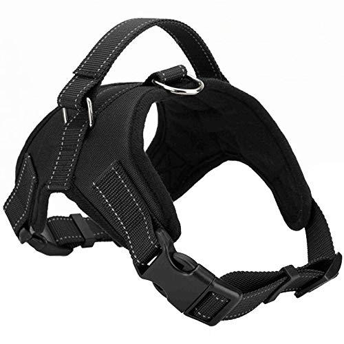 BLACK L BLACK L Dog Chest Strap, Pet Harness, Dog Vest, Pet Leash Chest Strap, Pet Supplies (color   Black, Size   L)