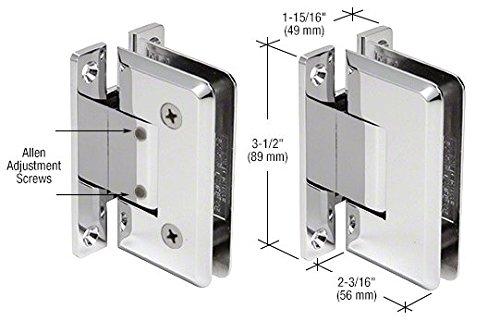CRL Pinnacle 337 Series Chrome Adjustable Wall Mount Full Back Plate Hinge