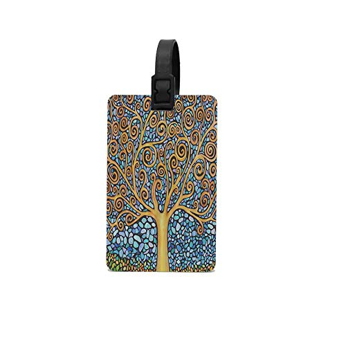 CloeSteward Colorful Spring Life Tree Luggage Tags For Suitcases PVC ID Baggage Cards