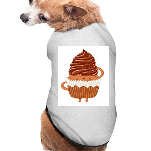 KuLuKo Pet Shirt, Dog Cat Clothes Puppy Classic Vest Chocolate Cupcake T-Shirt Pet