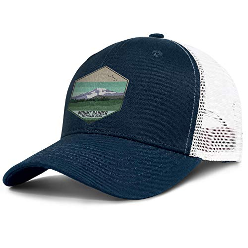 Mount Rainier National Park Baseball Hat Cool Cotton Adjustable Mesh Brim Caps Unisex