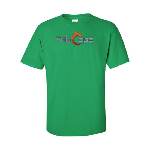 IamTee The Code : up up down down left right left right b a start T-Shirt-Green-L