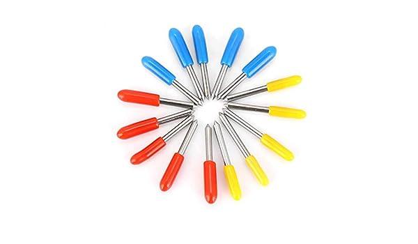 Cuchillas del trazador, 15pcs 30 ° 45 ° 60 ° Grado Roland Corte Plotter Vinilo Cortador Tenedor de la cuchilla: Amazon.es: Bricolaje y herramientas