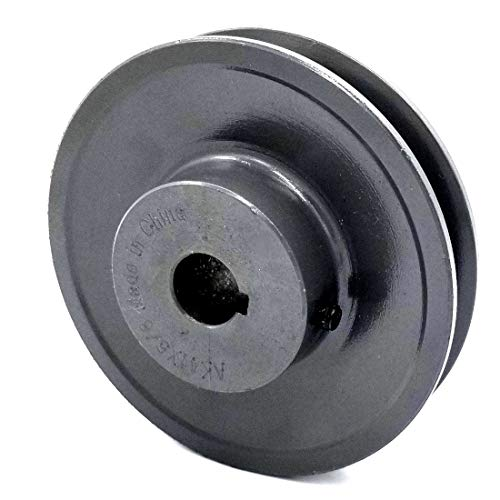 """Cast Iron pulley  SHEAVE  3.45/"""" for electric motor 2 groove for 3L 4L /& A  belts"""