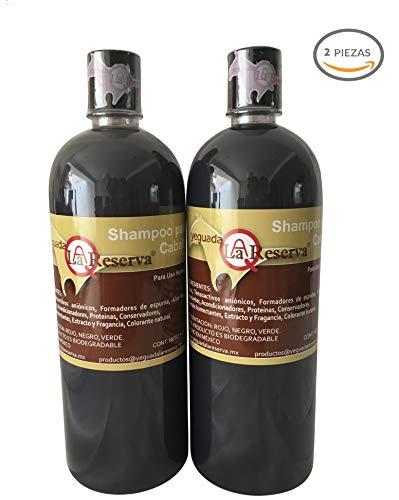 2 Shampoo Yeguada la Reserva, el famoso shampoo del caballo para uso humano, anticaída del cabello y acelera...