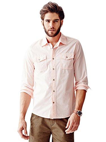 Laguna Long Sleeve (GUESS Men's Laguna Long-Sleeve Peached Regular-Fit Shirt)