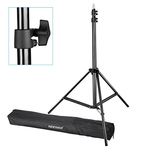 Neewer Pro 6 Feet/190CM Photography Light Stands with Carrying Case for Reflectors, Softboxes, Lights, Umbrellas, Backgrounds,etc.