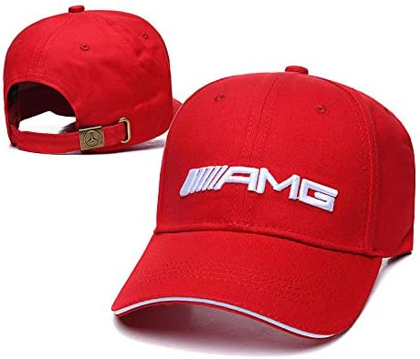 red JDclubs Mini Logo Embroidered Adjustable Baseball Caps for Men and Women Hat Travel Cap Car Racing Motor Hat