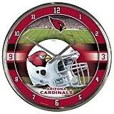 Arizona Cardinals Round Chrome Wall Clock - Licensed NFL Gift - Arizona Cardinals Collectible