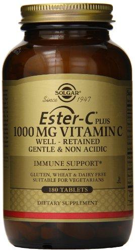 Solgar Ester-C Plus complexe comprimés de vitamine C Ester-C Ascorbate, 1000 mg, comte 180